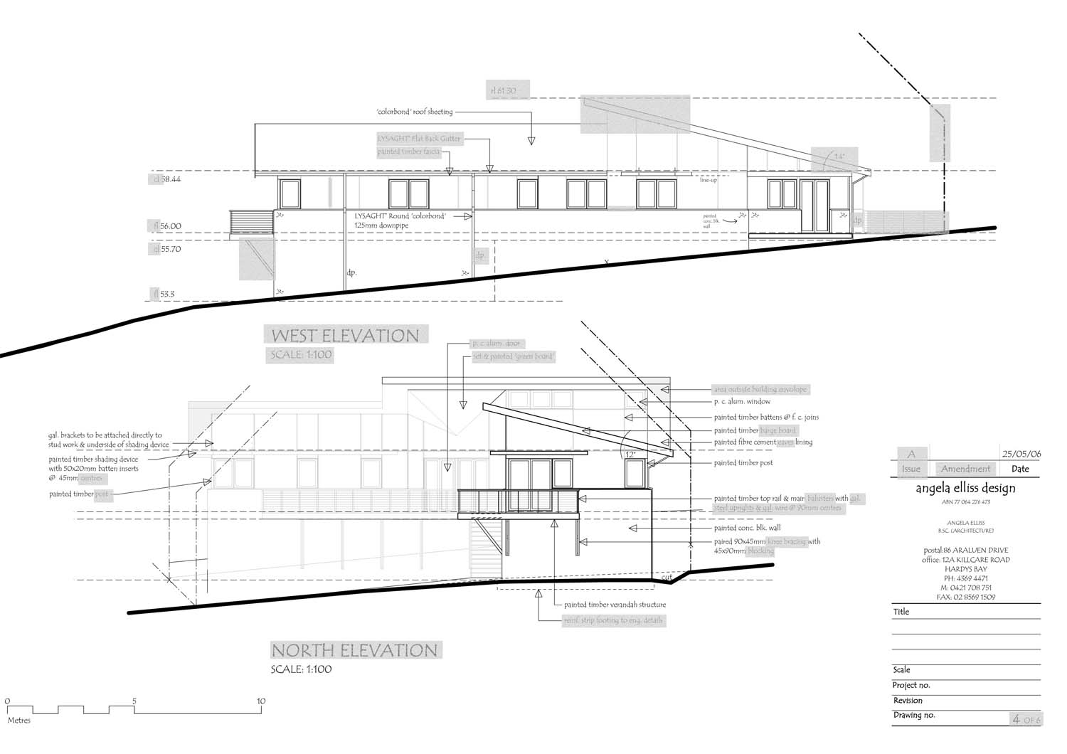 Plan Elevation Questions : How to read house construction plans