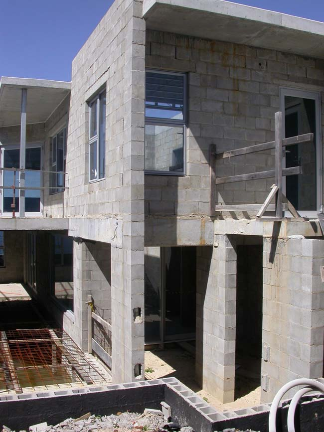 Wall construction for Concrete block construction homes