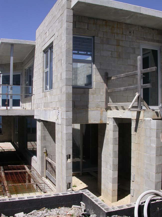 Concrete Block Fence Car Interior Design