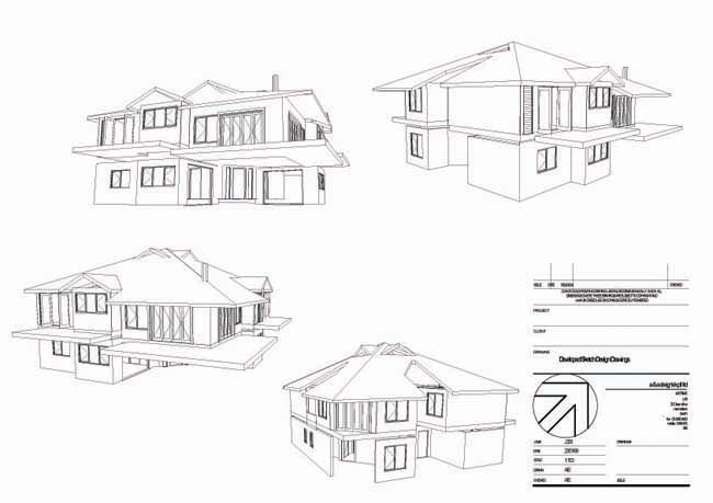 Legal requirements documentation House plan drawing 3d