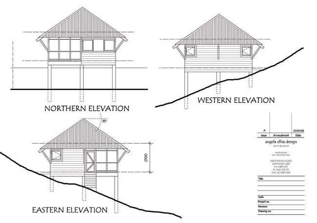 Initial design elevations