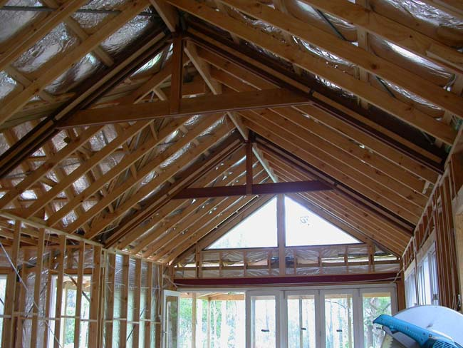 Framing cathedral ceiling hip roof for Cathedral ceiling trusses