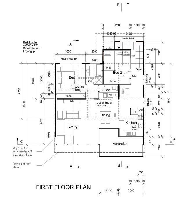 Legal requirements documentation Residential building plan sample