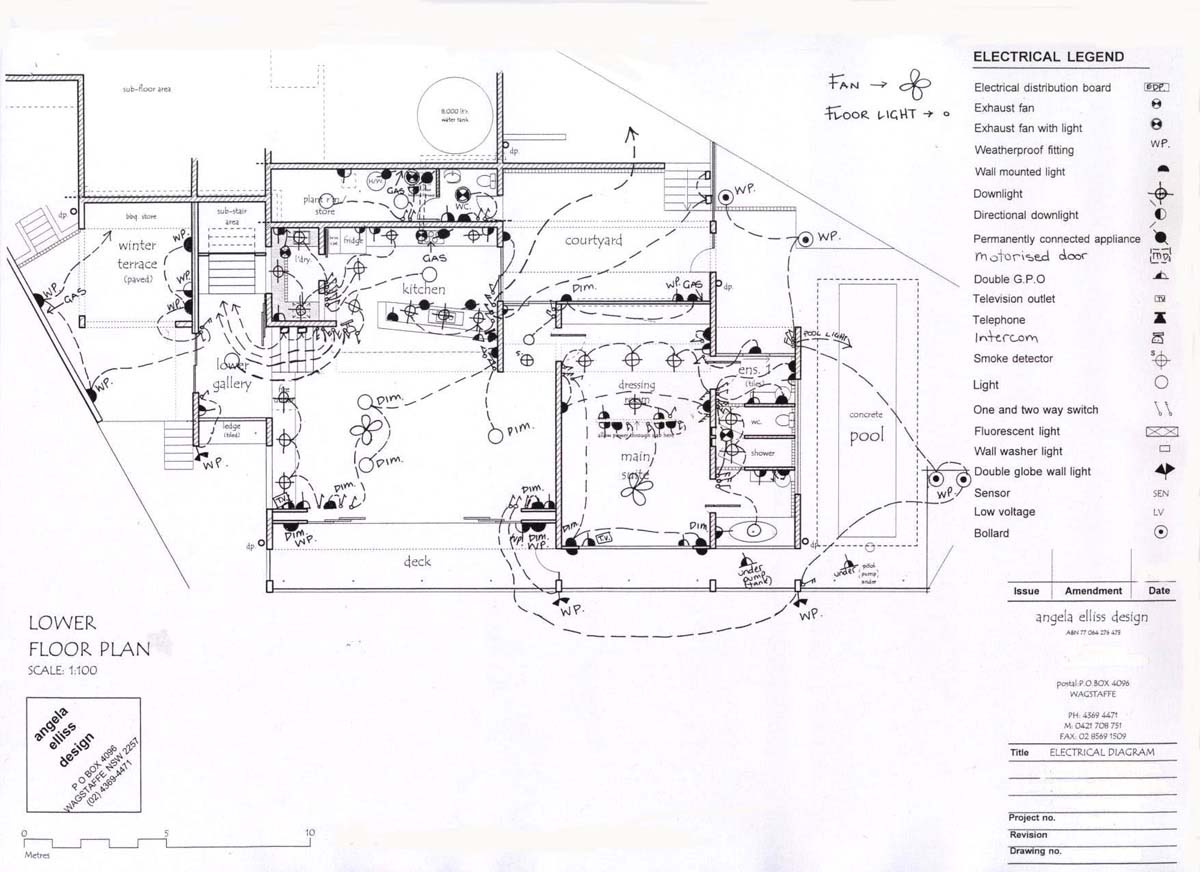 Electrical Services Drawing Electrical Wiring Diagram For