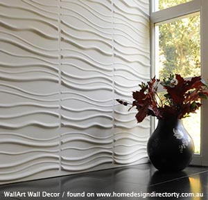 3dwall linings wallart wall decor wave pattern