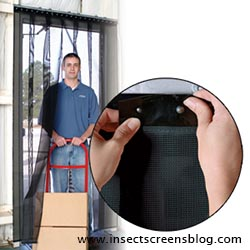 Flexible screen door/curtain for bi-fold doors