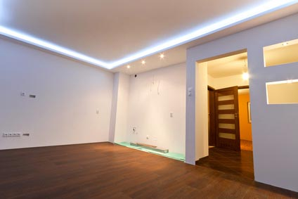 Pelmet lighting - calm living space lighting