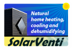 Solar ventilation. Remove musty smells, mould and other air quality issues using solar power.