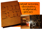 Cutout - internal decorative screens