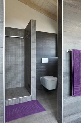 Colour of the year 2014 - Radiant Orchid - Bathroom renovation