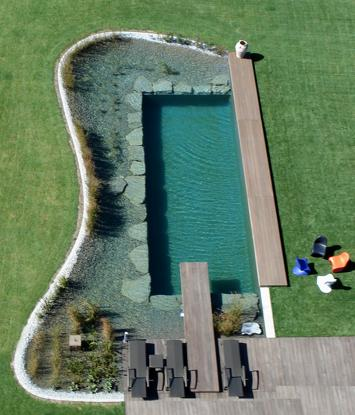 Bio pools or natural swimming pools for Natural swimming pools a guide to building