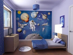 Childrens Bedroon Wall by Crockers Paint and Wall Specialists