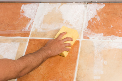 cleaning off excess grout