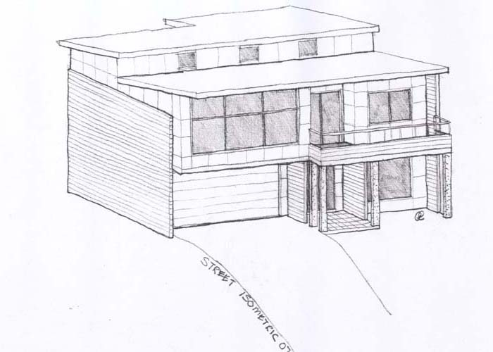 How to create sketch designs when designing a house for Drawing of small house