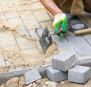 fill joints between pavers with sand