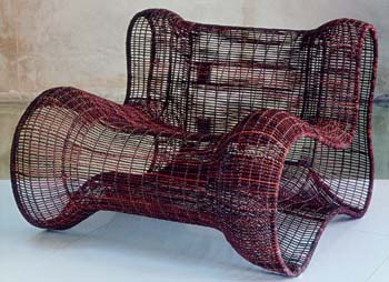 suprisingly comfortable woven chair