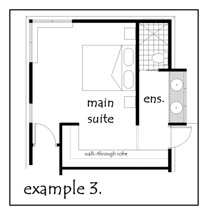 Small ensuite plans home design Master bedroom ensuite and wardrobe