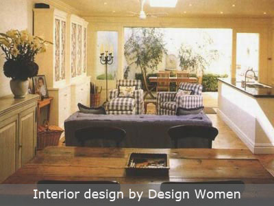 Warm lounge room by Designing Women