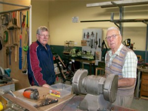 Members of the Kincumber community shed