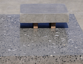 Polished concrete table by Concrete Culture