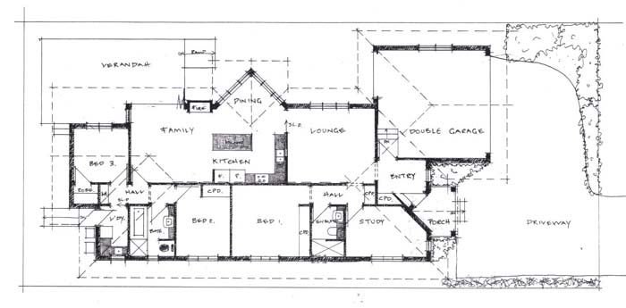 quite but still open plan - Open Home Plans Designs