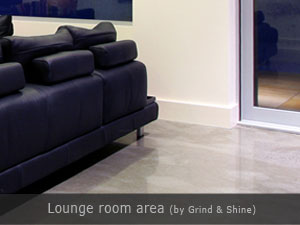 grind and shine lounge area