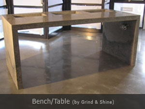 grind and shine table bench