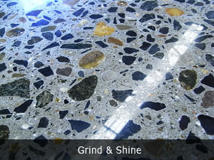 polished concrete floor with aggregate 1