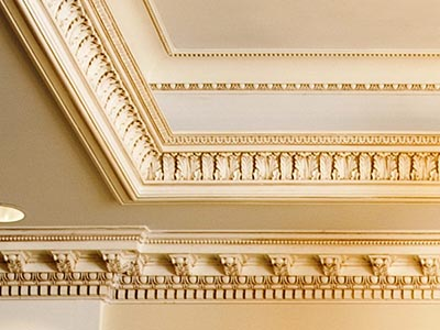 Detailed cornices